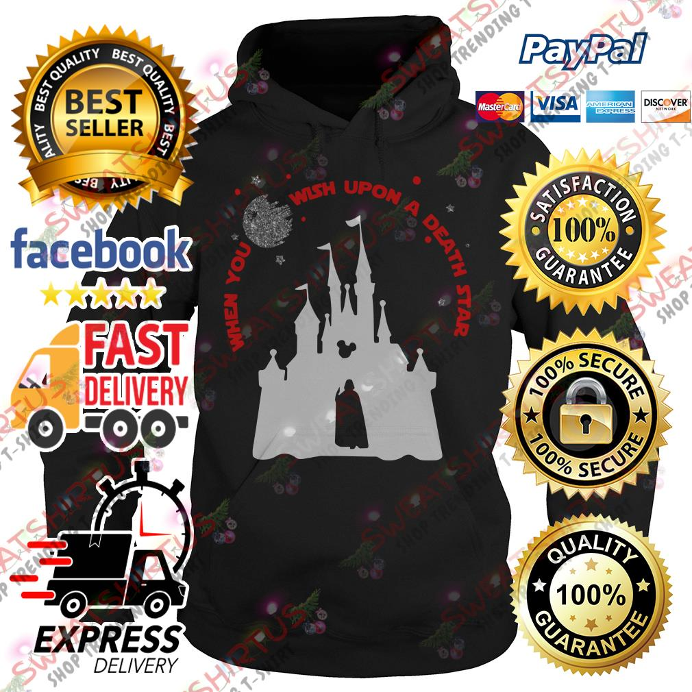 Darth Vader and Disney castle when you wish upon a death star Hoodie