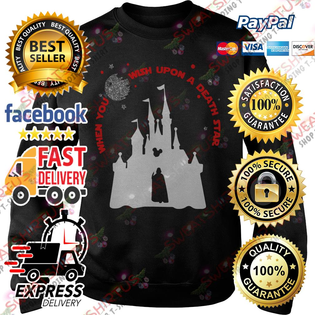 Darth Vader and Disney castle when you wish upon a death star Sweater