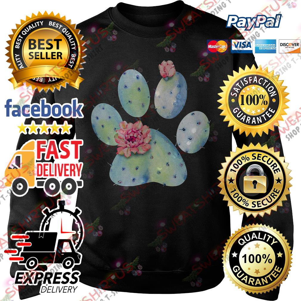 Dog paw cactus with flower Sweater
