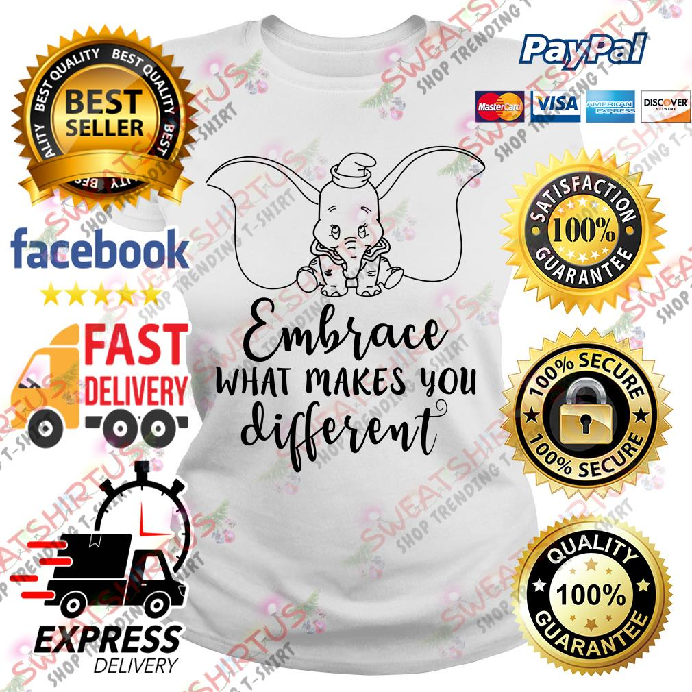 Dumbo embrace what makes you different Ladies Tee