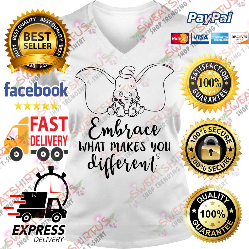 Dumbo embrace what makes you different V-neck T-shirt