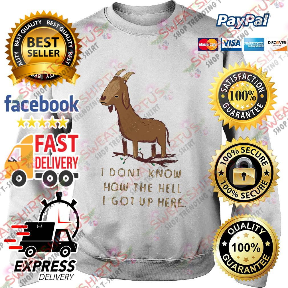 Goat I dont know how the hell I got up here Sweater