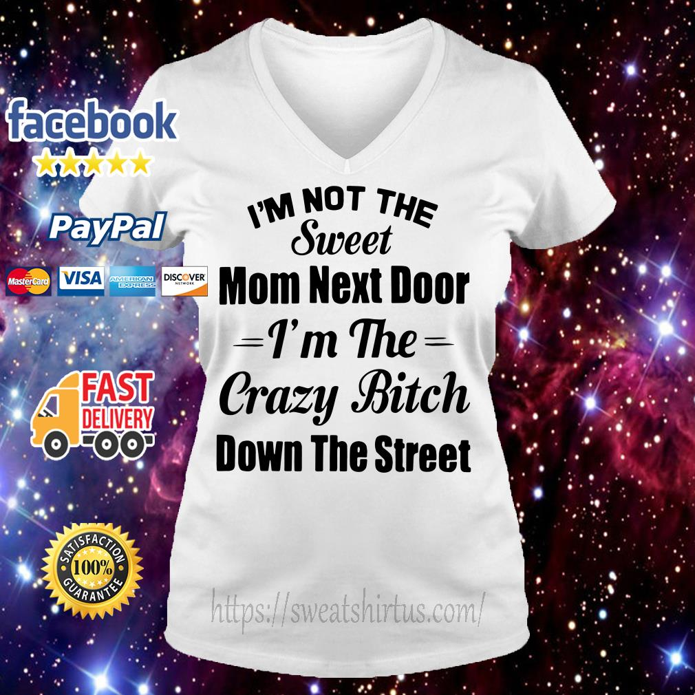 I'm not the sweet mom next door I'm the crazy bitch down the street V-neck T-shirt