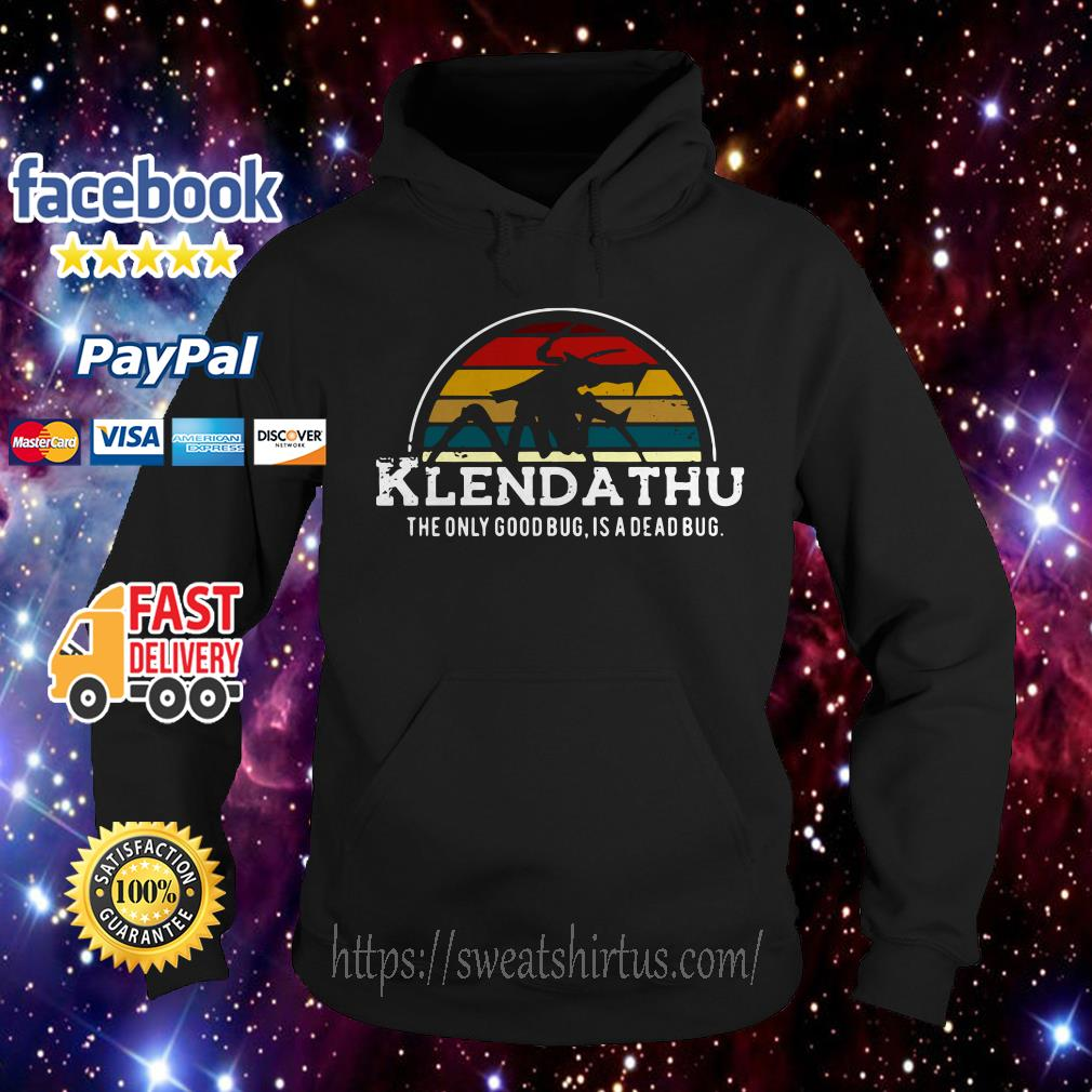 Klendathu the only good bug is a dead bug vintage Hoodie