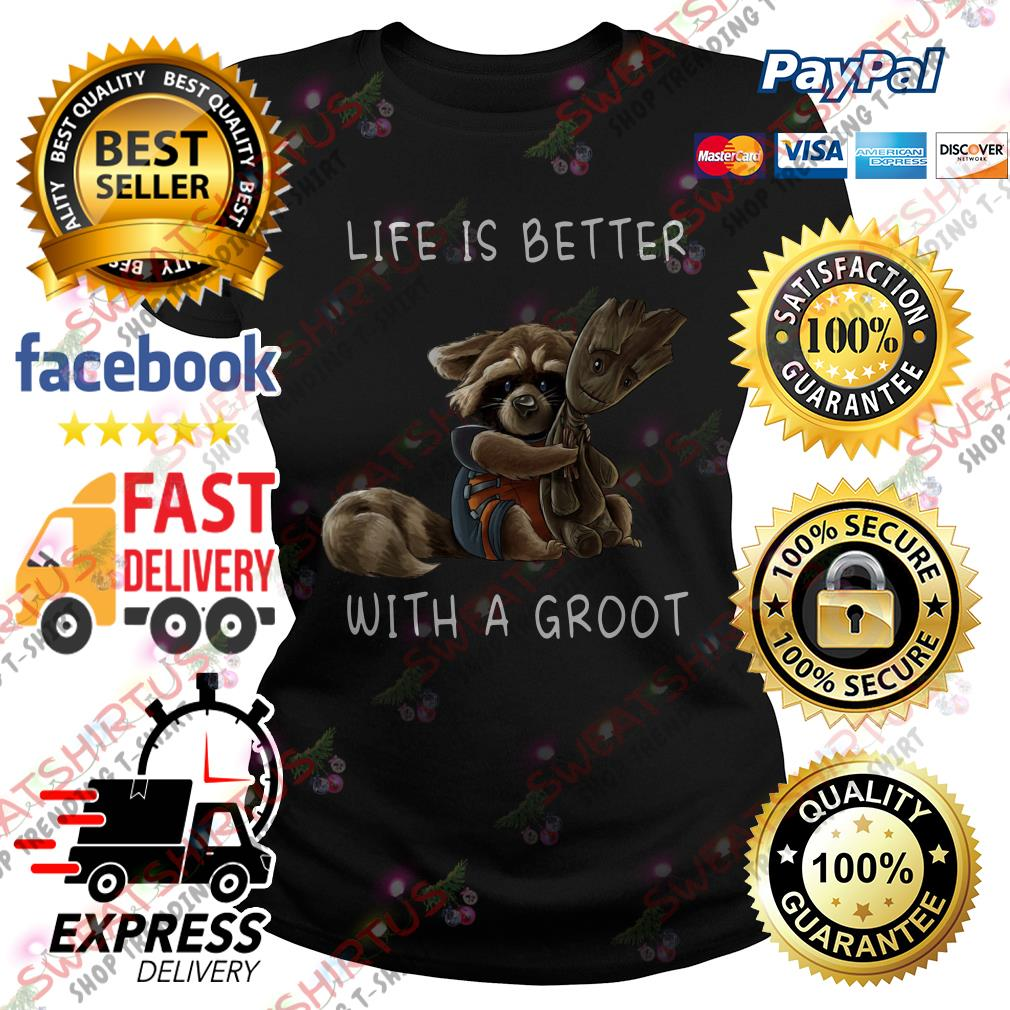 Life is better with a Groot Ladies Tee
