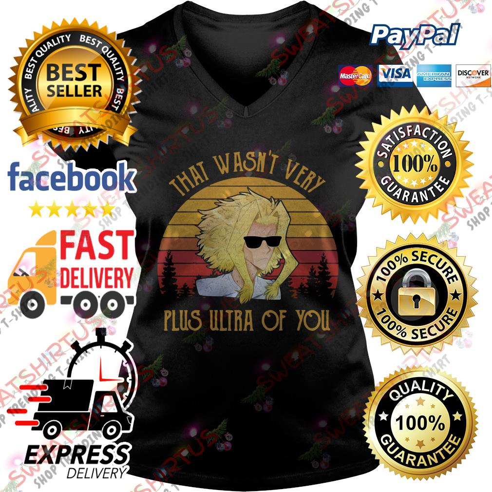 All Might That wasn't very plus ultra of you vintage V-neck T-shirt