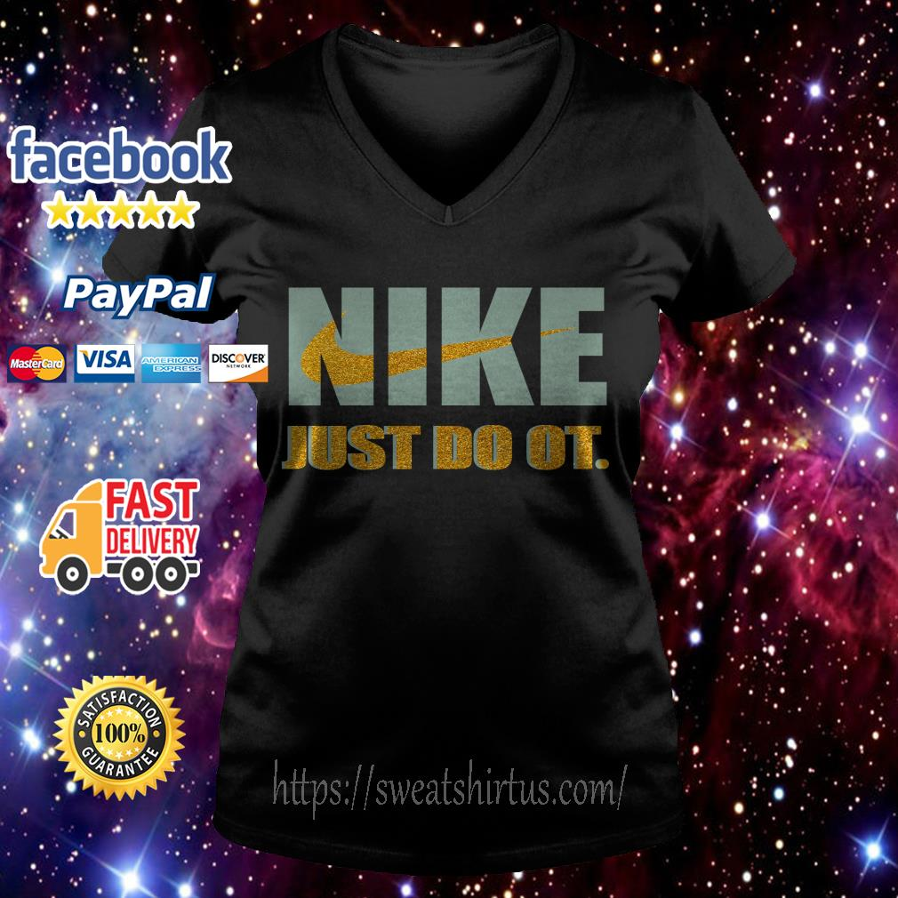 Official Nike just do it purl V-neck T-shirt