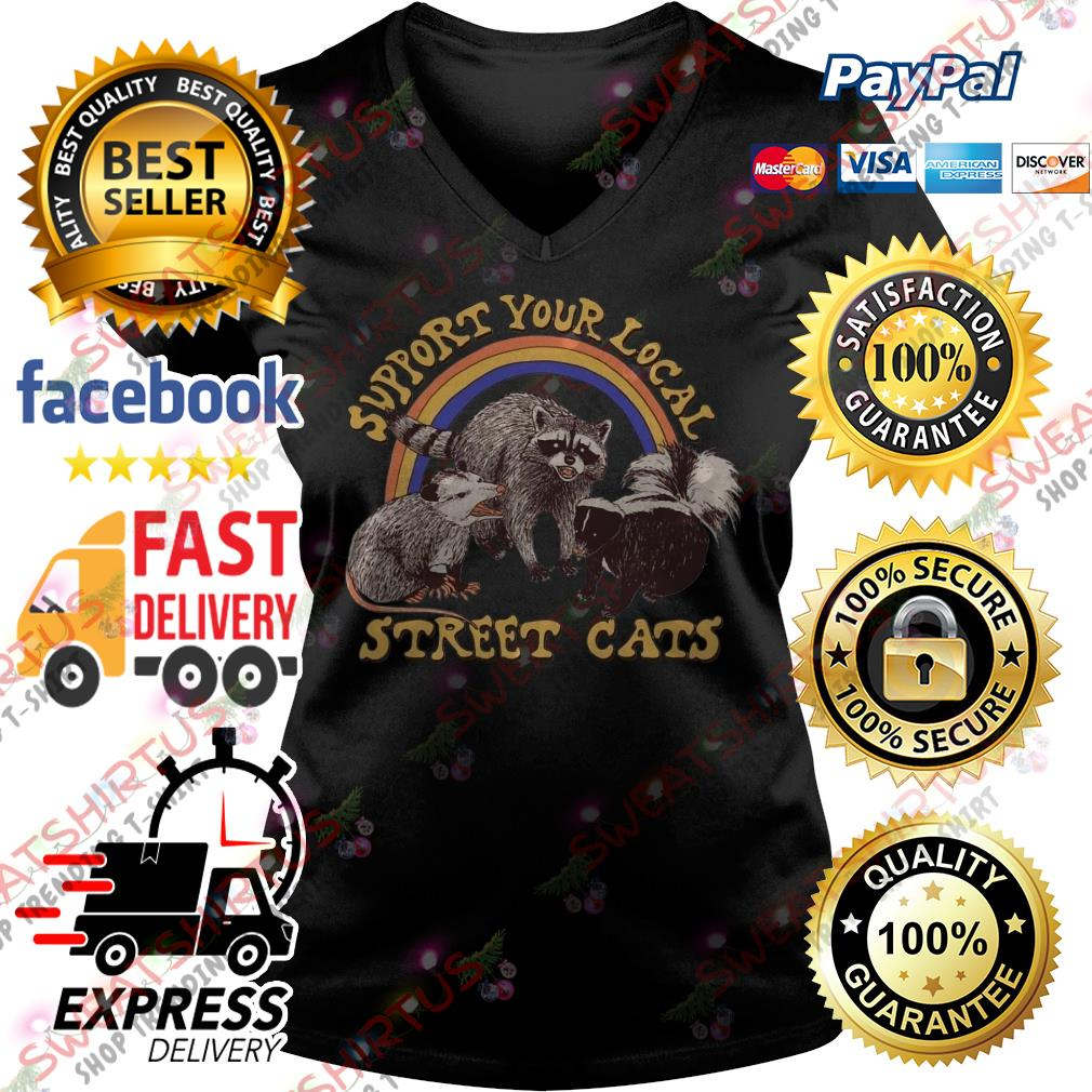 Official support your local street cats V-neck T-shirt