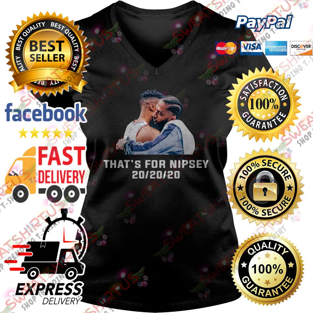 Russell Westbrook that's for Nipsey 20/20/20 V-neck T-shirt