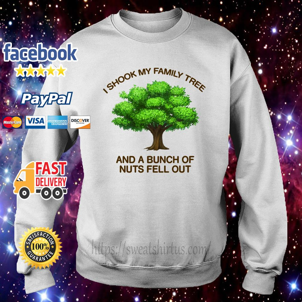 I shook my family tree and a bunch of nuts fell out V-neck T-shirt
