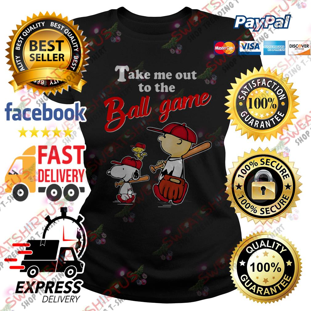 Snoopy take me out to the ball game Ladies Tee