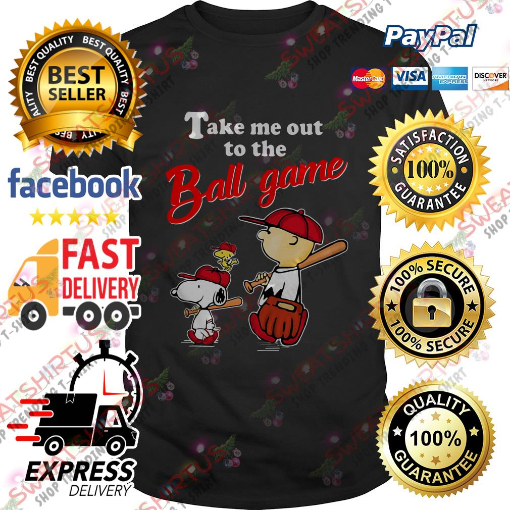 Snoopy take me out to the ball game shirt