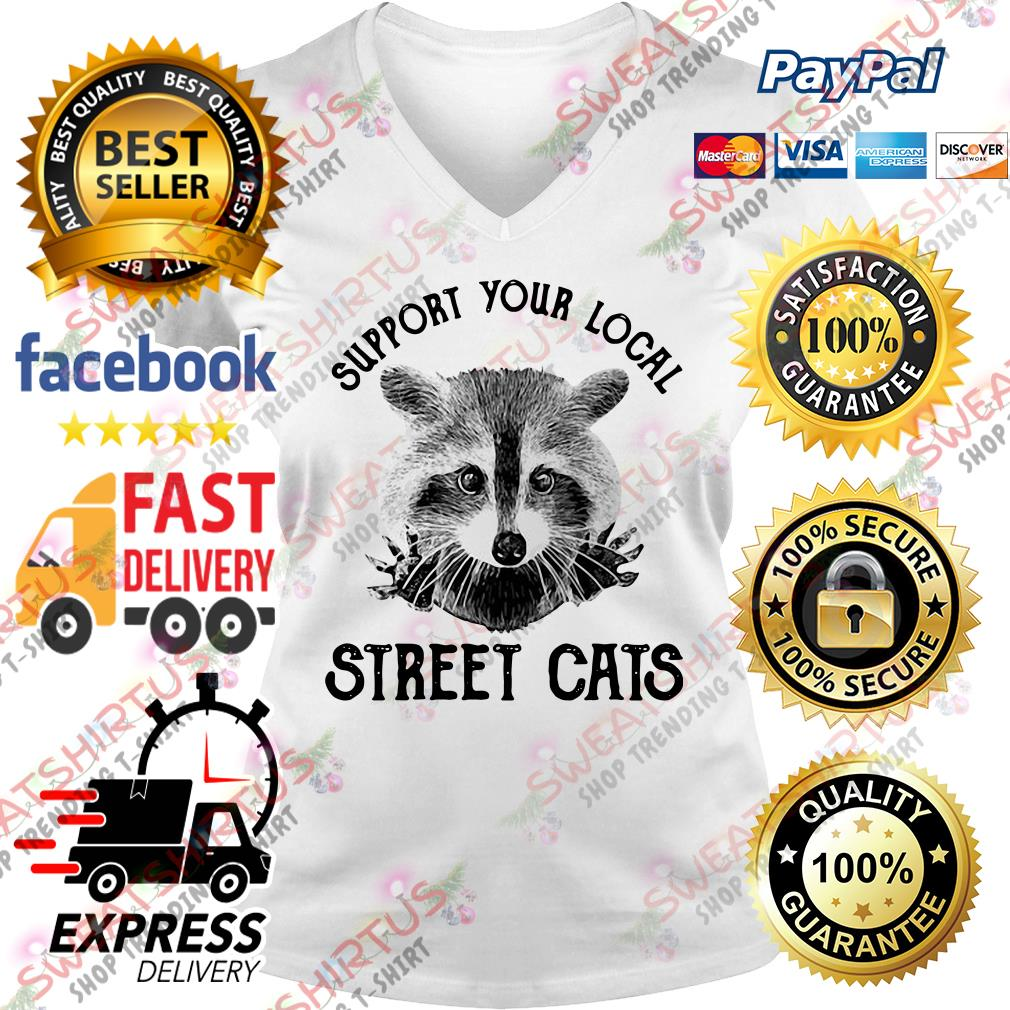 Support your local street cats V-neck T-shirt