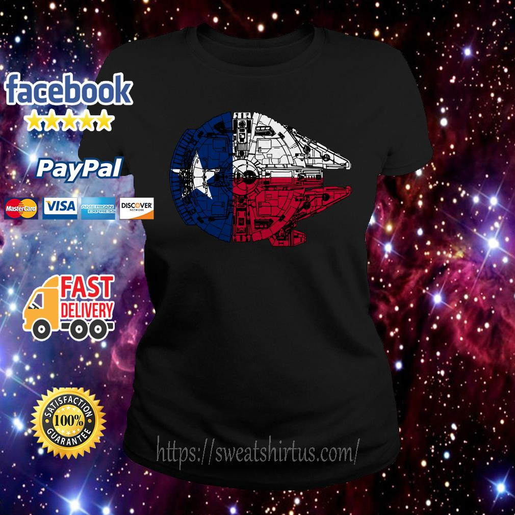 Texas Flag and the Millennium Falcon Ladies Tee