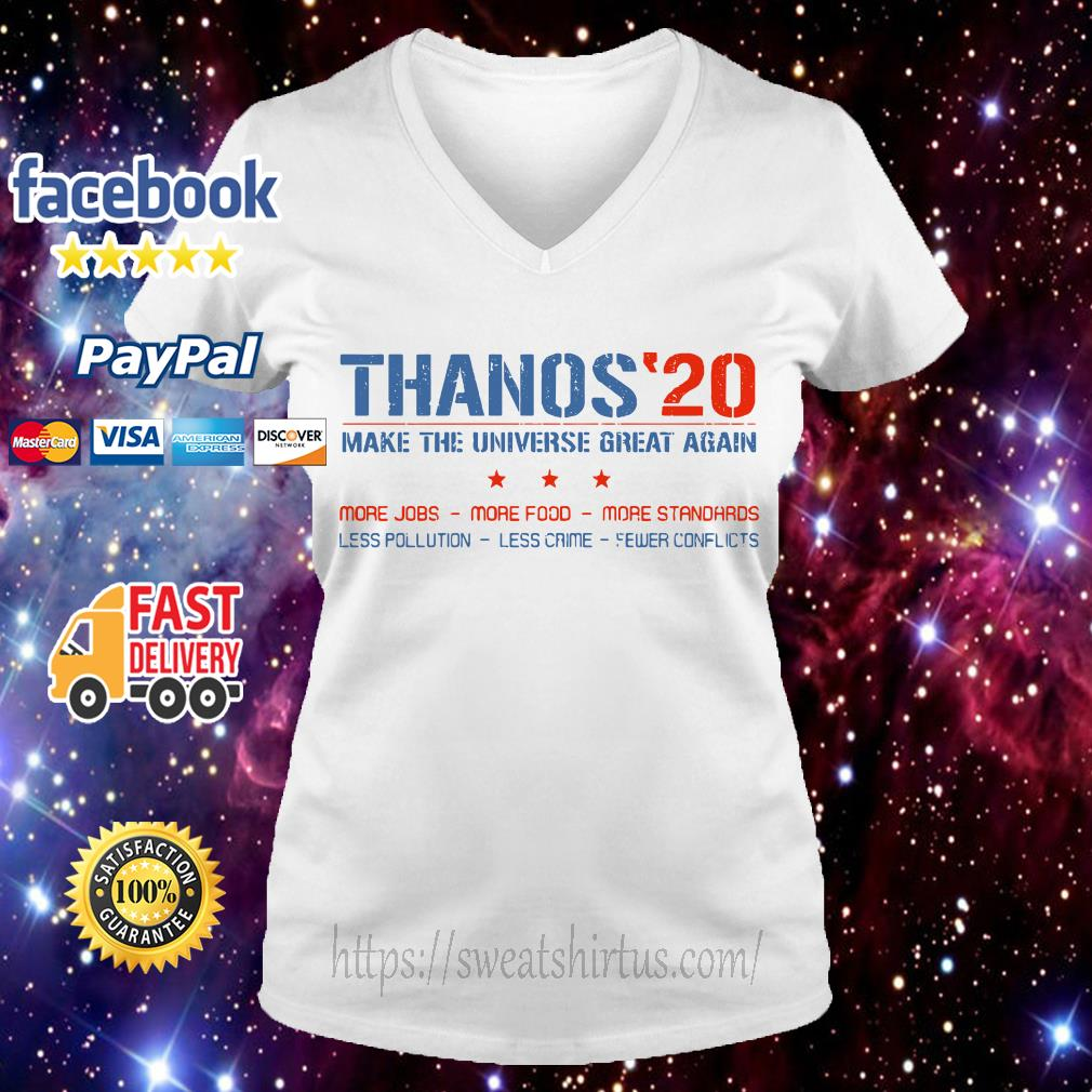 Thanos 20 make the universe great again V-neck T-shirt