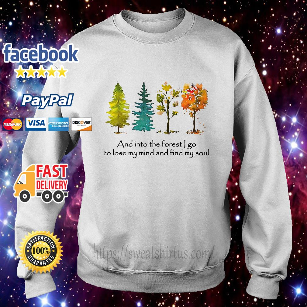 Trees and into the forest I go to lose my mind and find my soul Sweater