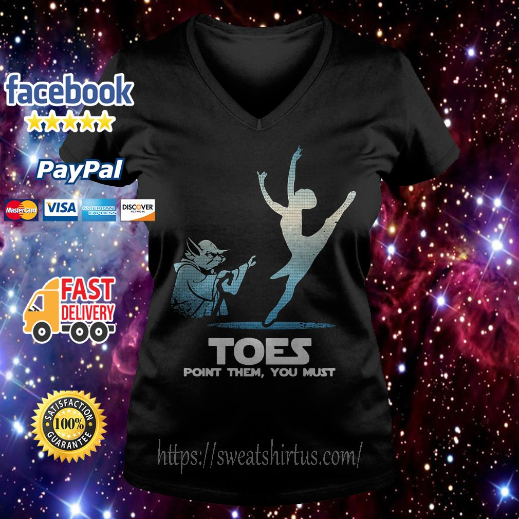 Yoda Toes point them you must ballet V-neck T-shirt