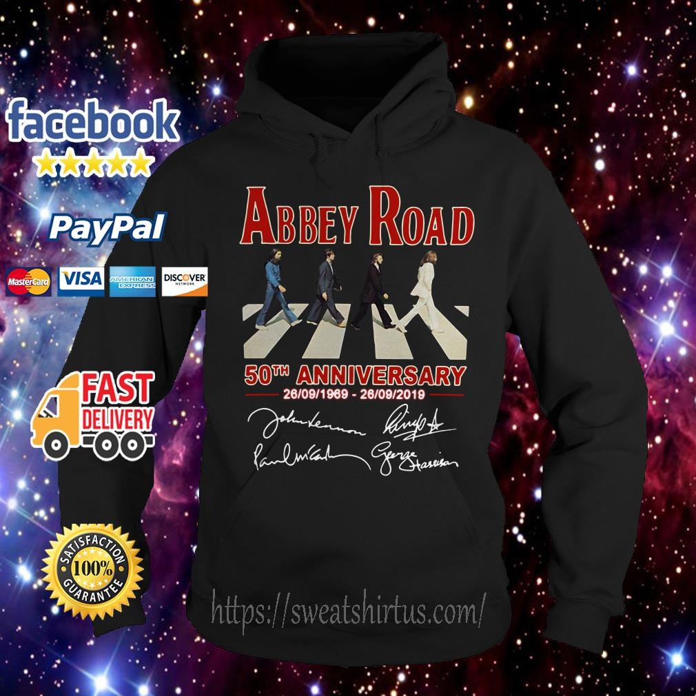 The Beatles Abbey Road 50th anniversary signature Hoodie