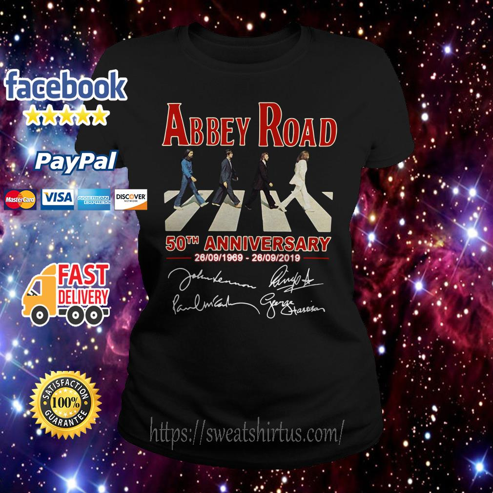 The Beatles Abbey Road 50th anniversary signature Ladies Tee