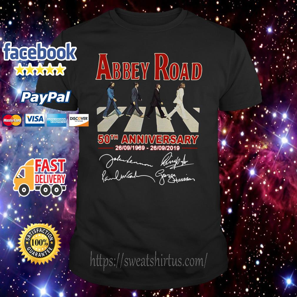 The Beatles Abbey Road 50th anniversary signature shirt