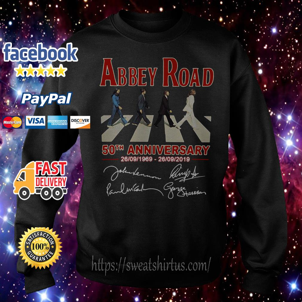 The Beatles Abbey Road 50th anniversary signature Sweater