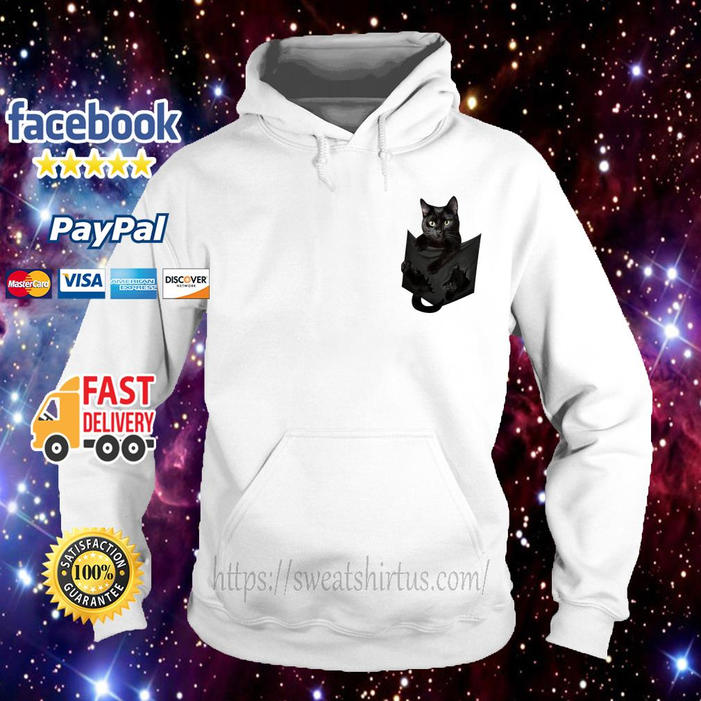 Black cat in the pocket Hoodie