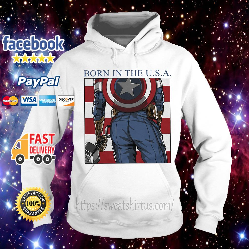 Captain America born in the USA Hoodie