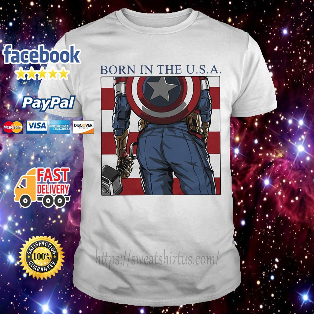 Captain America born in the USA shirt