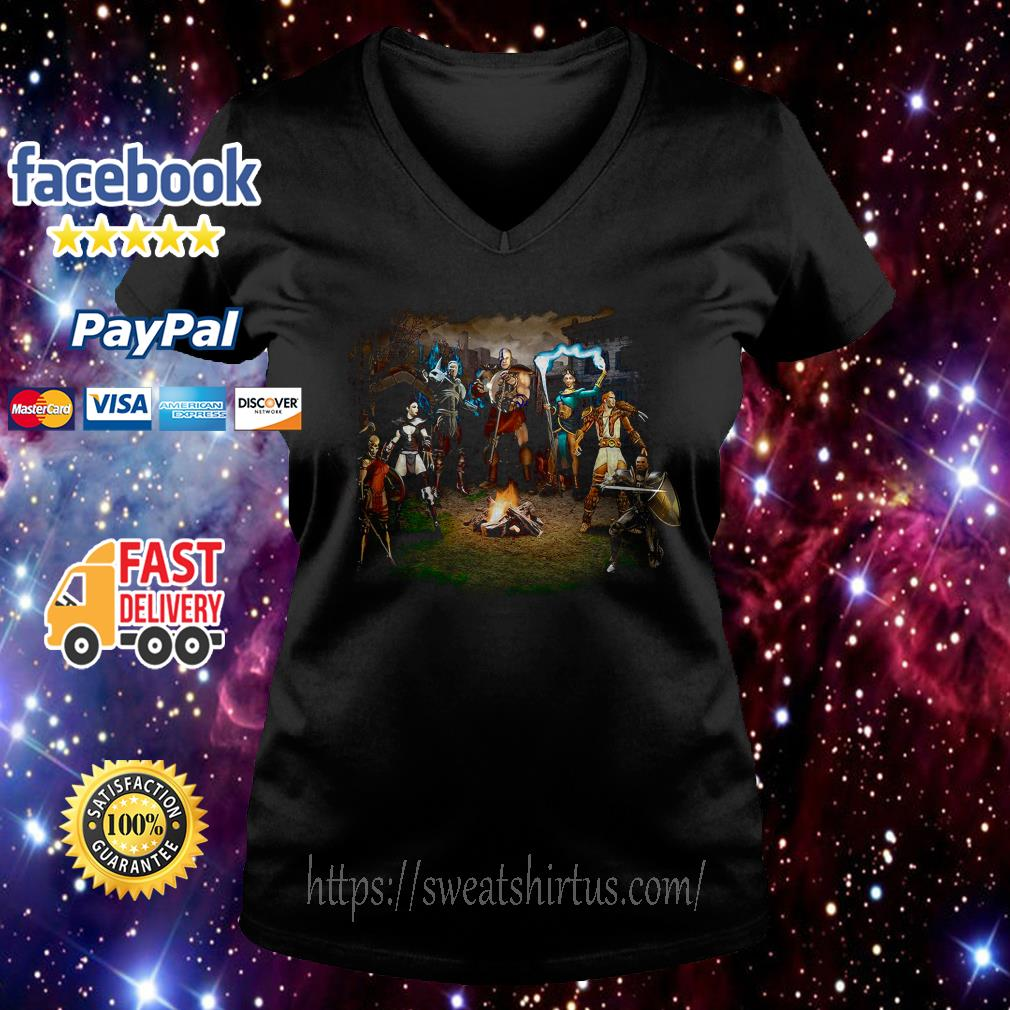 Diablo 2 Lord of Destruction V-neck T-shirt