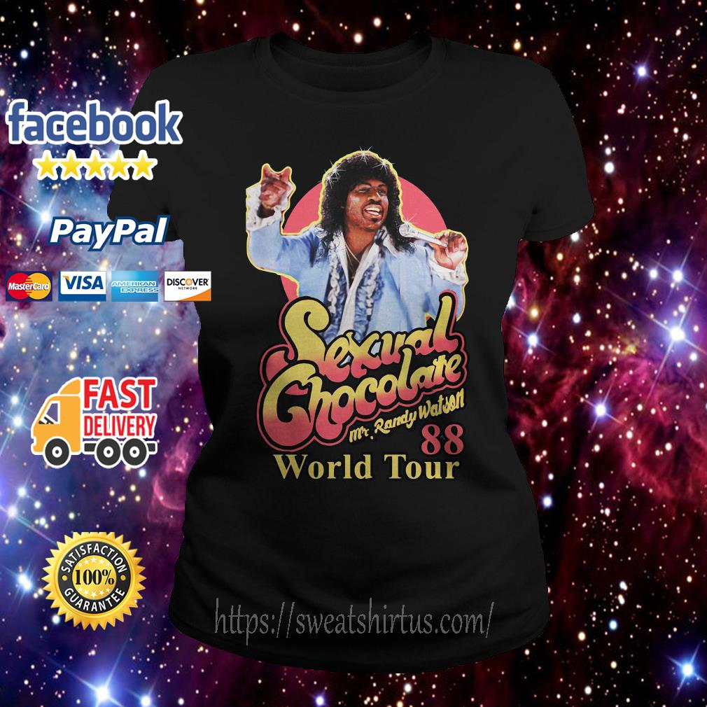 Sexual Chocolate Mr Randy Watson World Tour 88 Ladies Tee