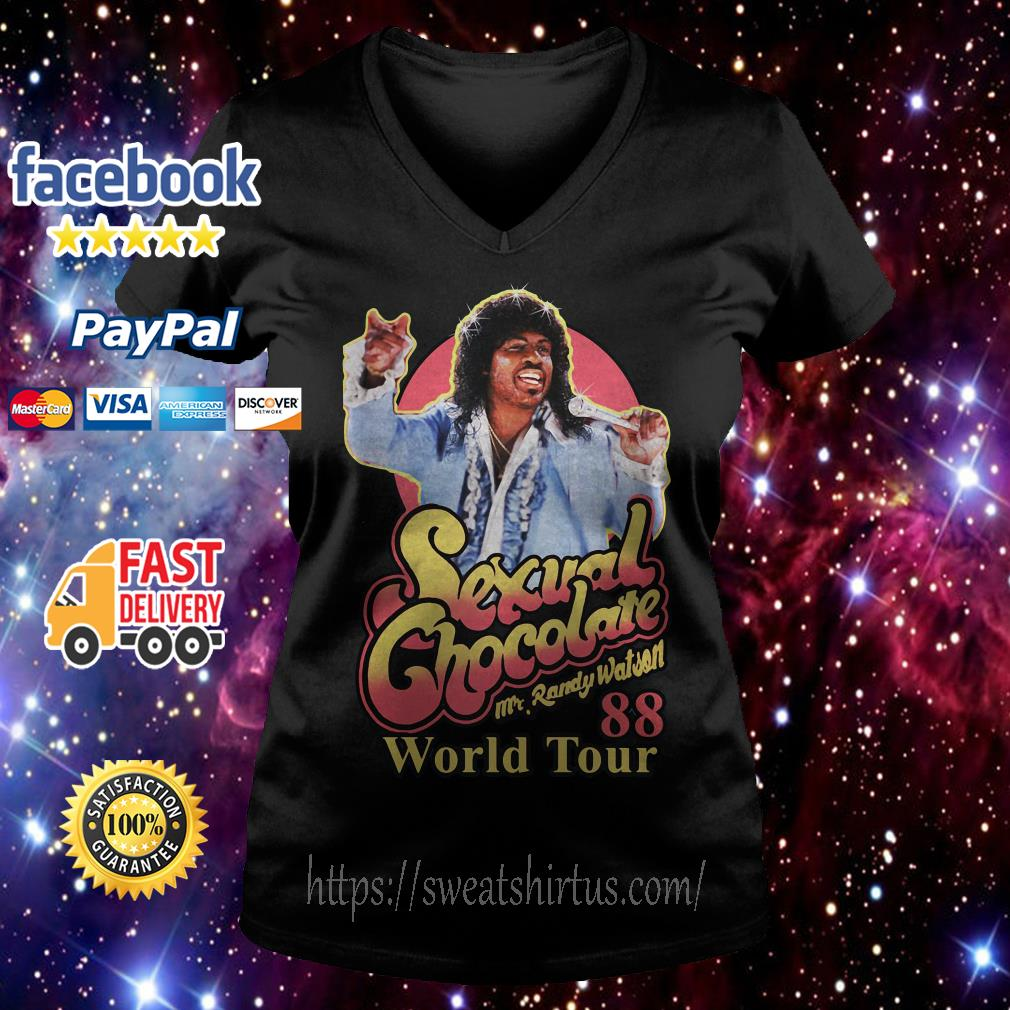 Sexual Chocolate Mr Randy Watson World Tour 88 V-neck T-shirt