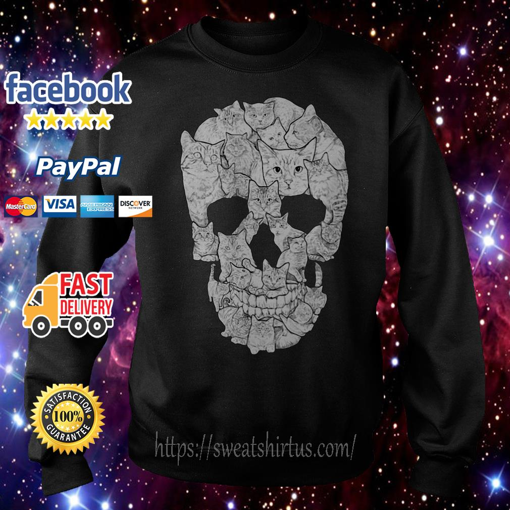 Sketchy Cat Skull Sweater