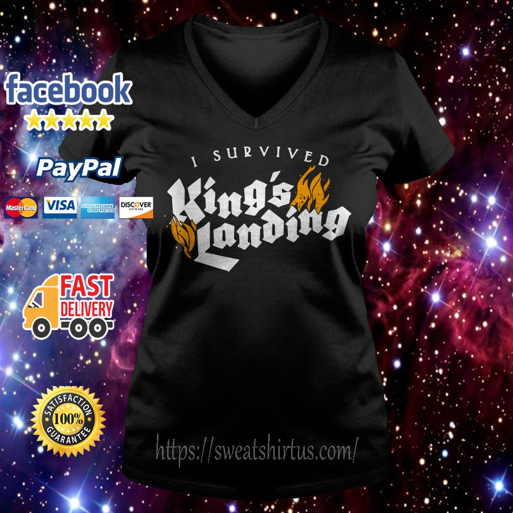 I survived King's landing V-neck T-shirt