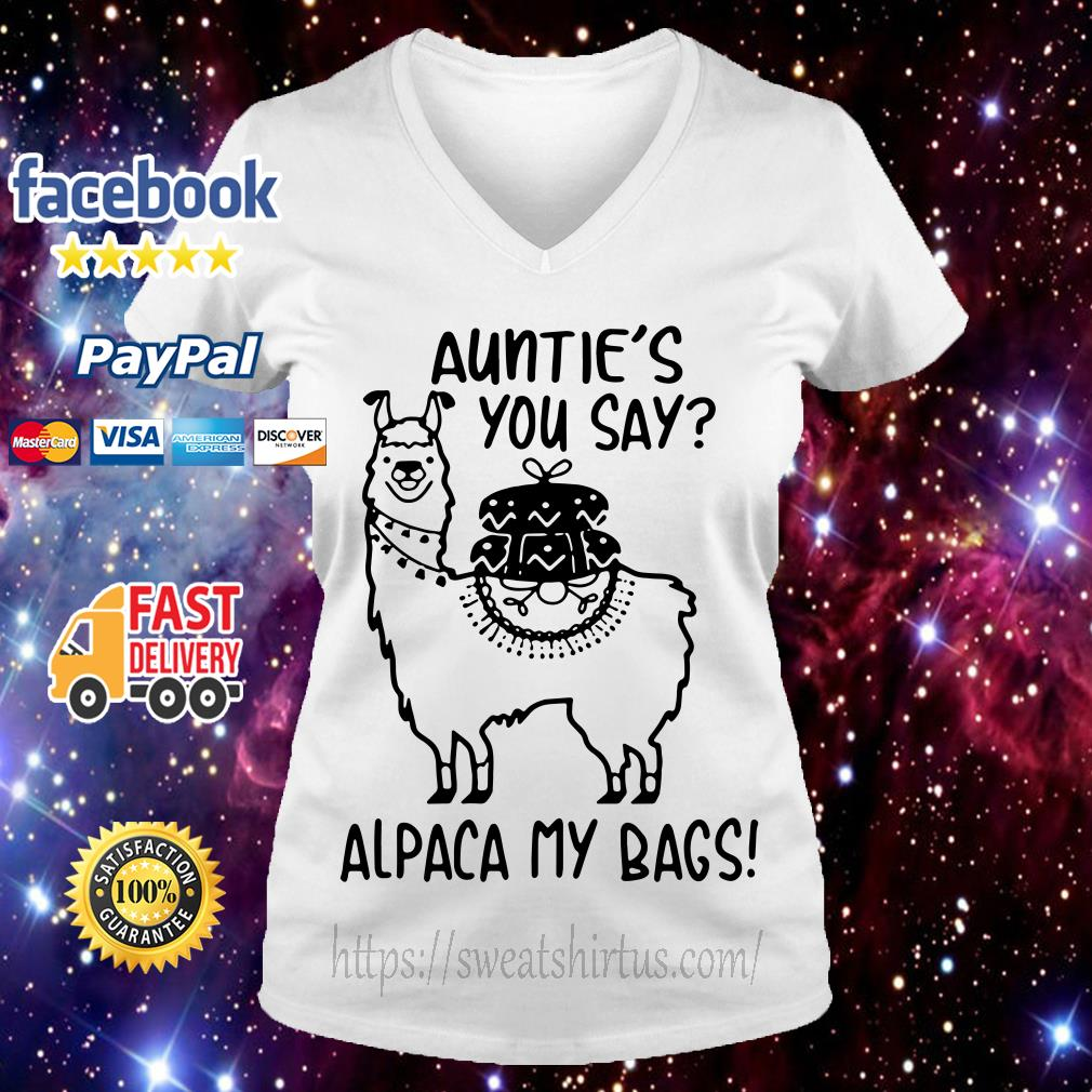 Auntie's you say alpaca my bags V-neck T-shirt