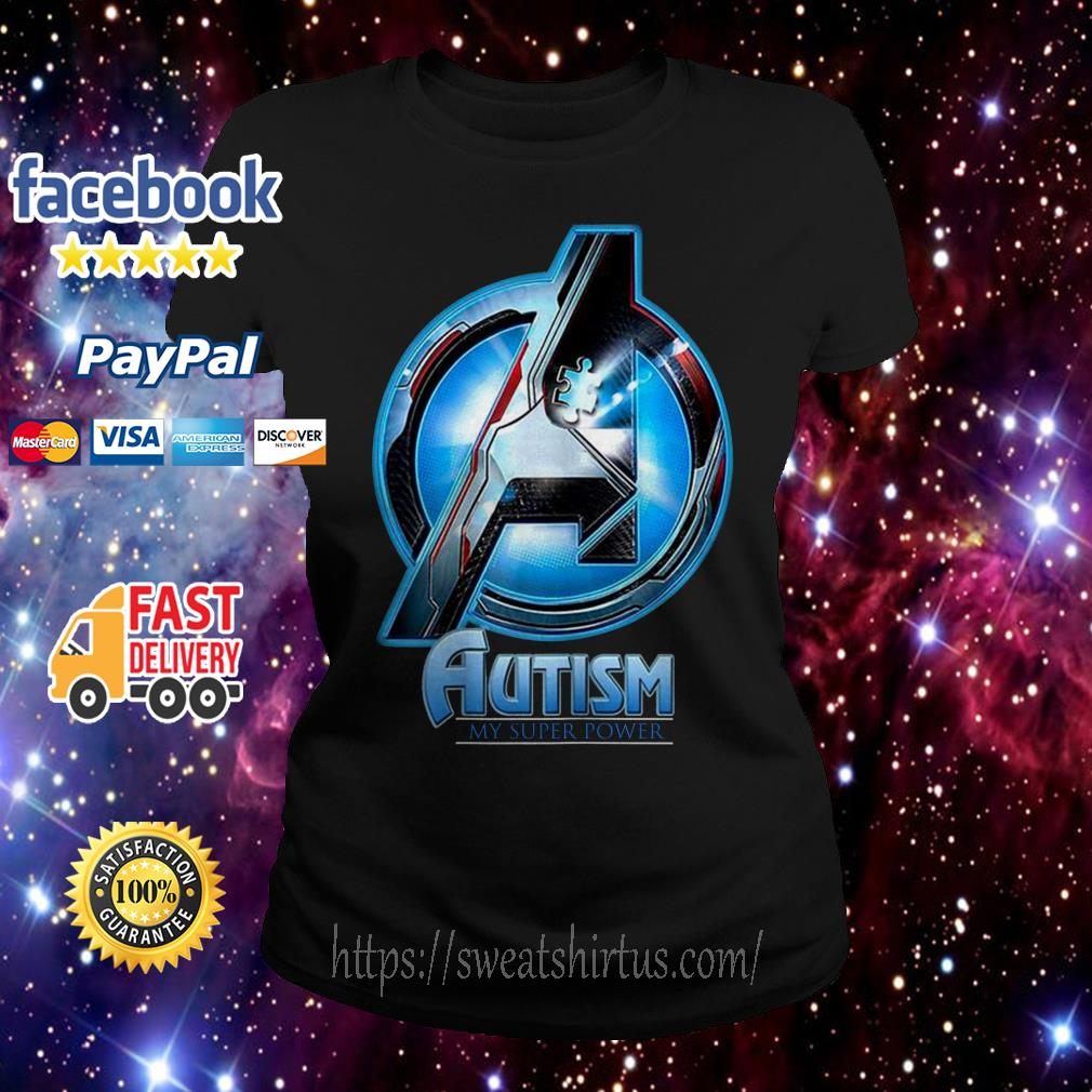 Avenger Autism my super power Ladies Tee