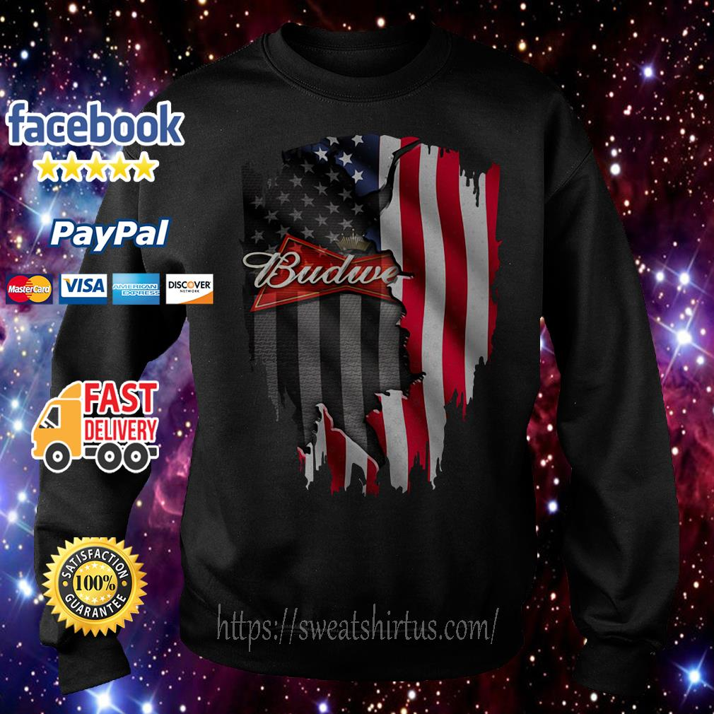 Budweiser beer American flag Independence Day 4th Of July Sweater