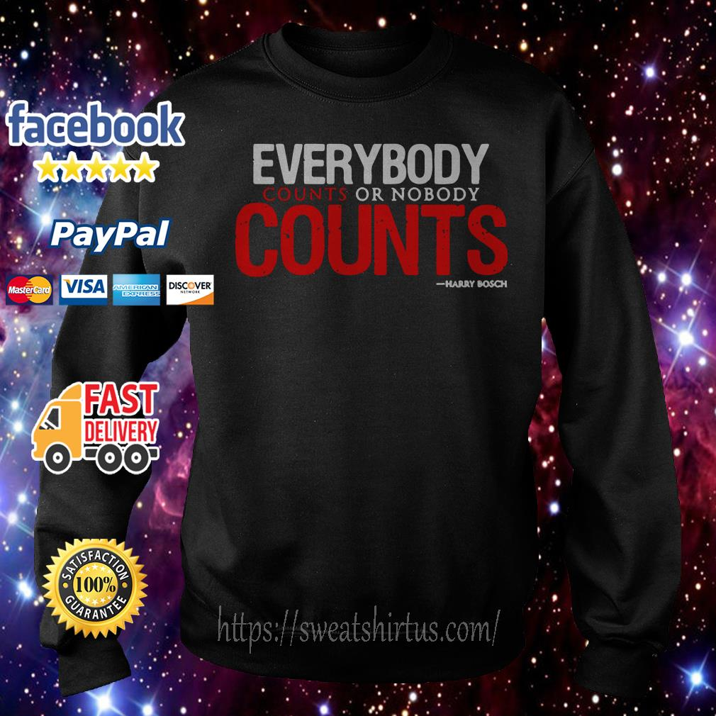 Everybody counts or nobody counts Sweater