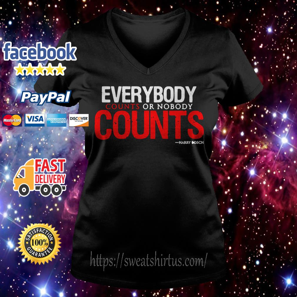 Everybody counts or nobody counts V-neck T-shirt