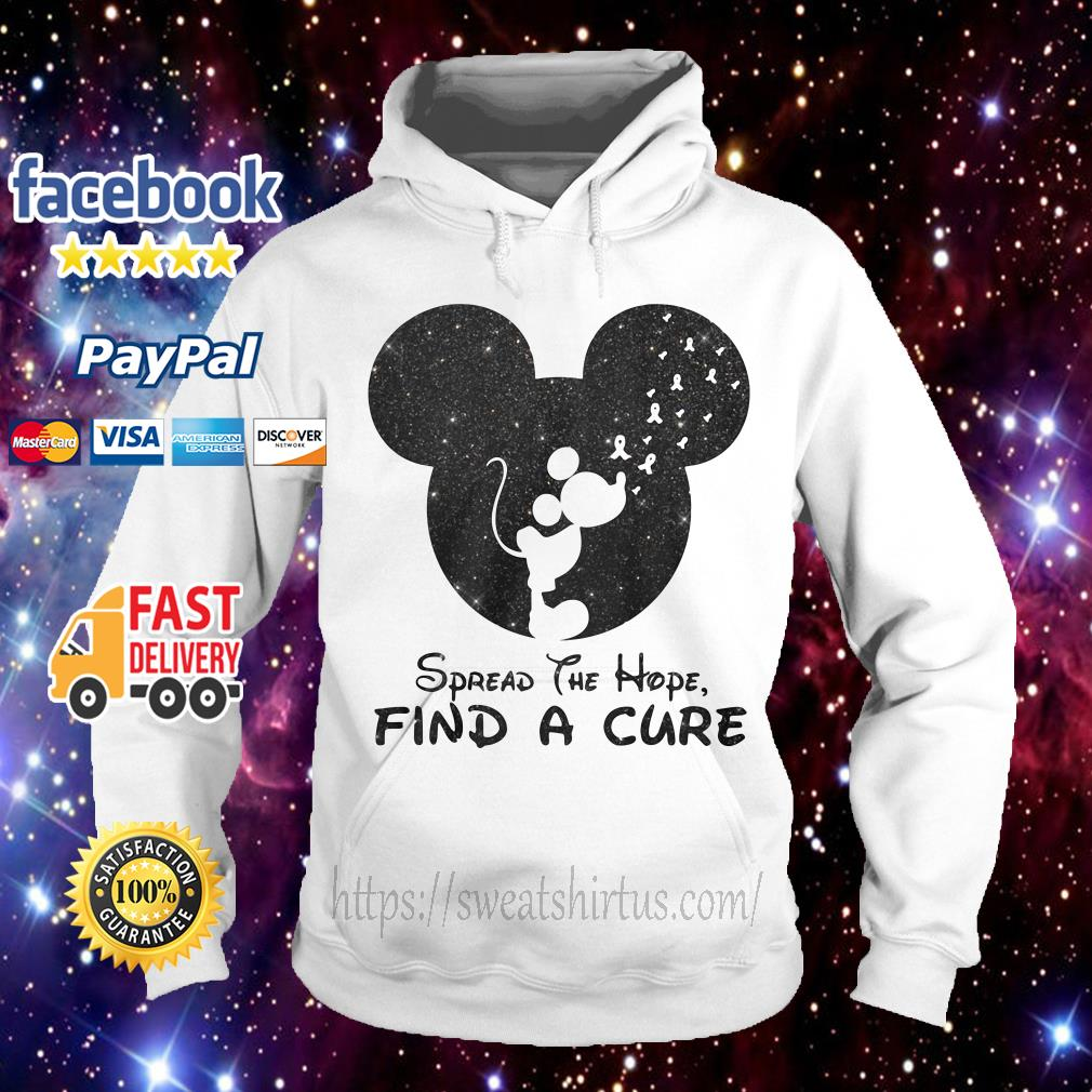 Mickey Breast Cancer spread the hope find the cure Hoodie