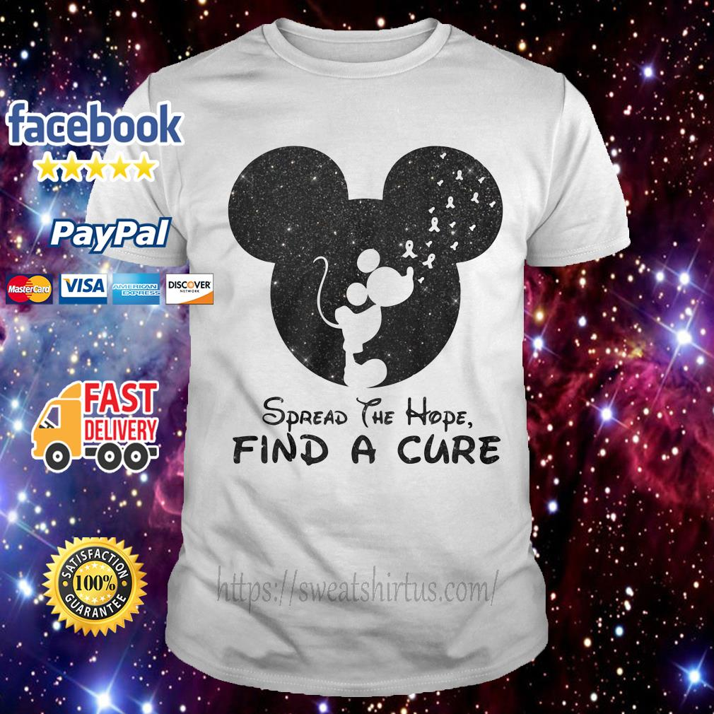 Mickey Breast Cancer spread the hope find the cure shirt