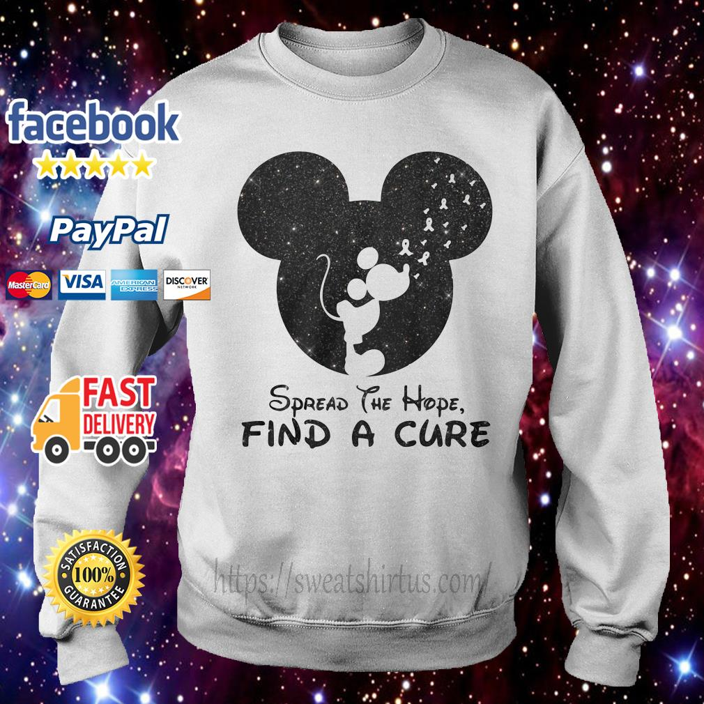 Mickey Breast Cancer spread the hope find the cure Sweater