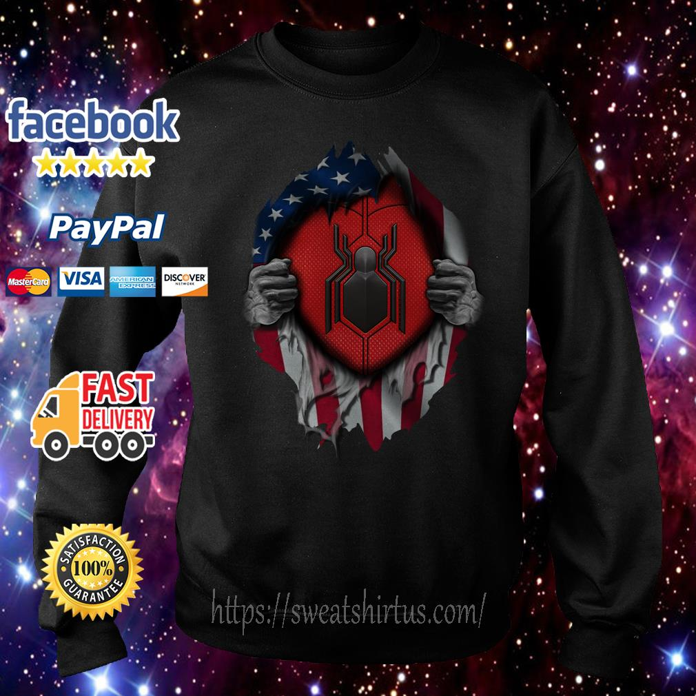 American flag Spider-man blood inside me Sweater