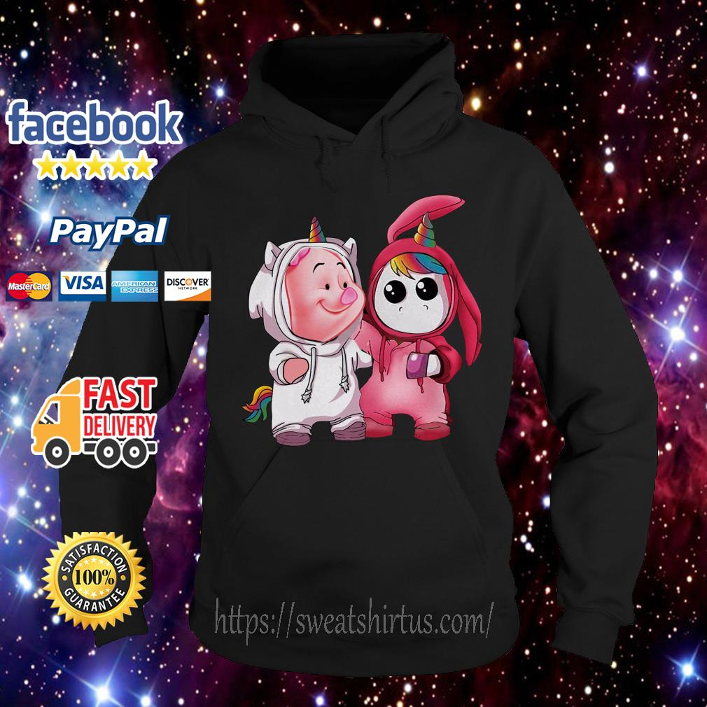 Baby piglet and baby unicorn Hoodie