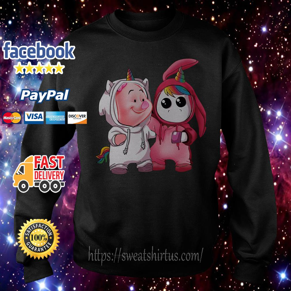 Baby piglet and baby unicorn Sweater
