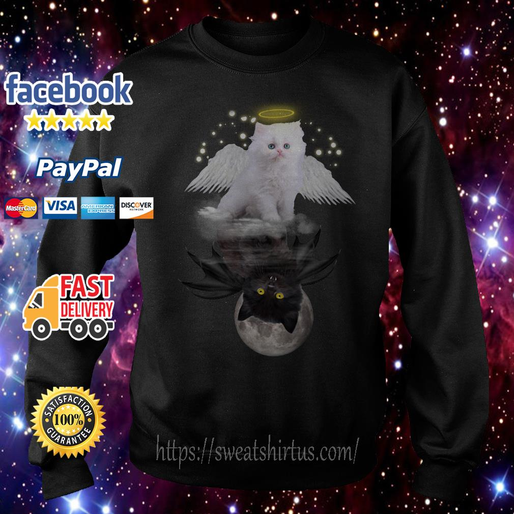 Cat meow angel and demon Sweater