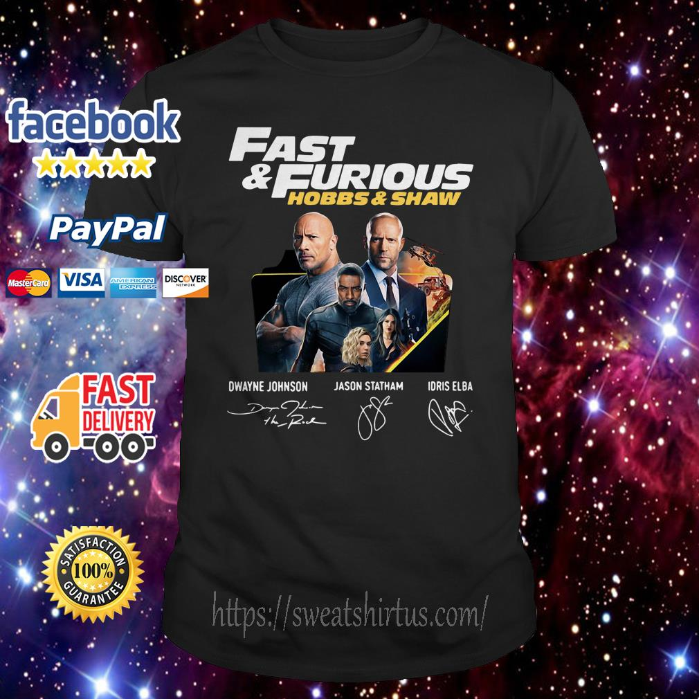 Fast And Furious Hobbs and Shaw signature shirt