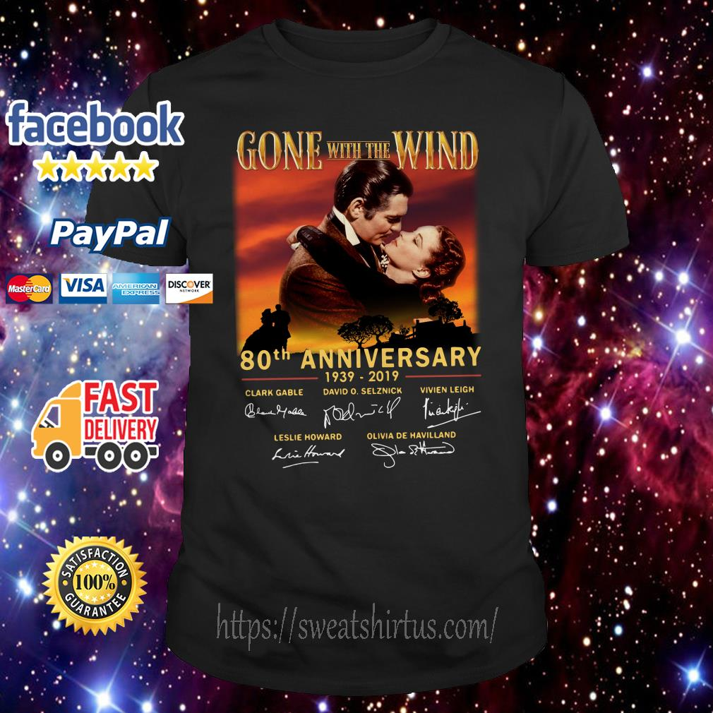 Gone With The Wind 80th anniversary 1939 2019 signature shirt