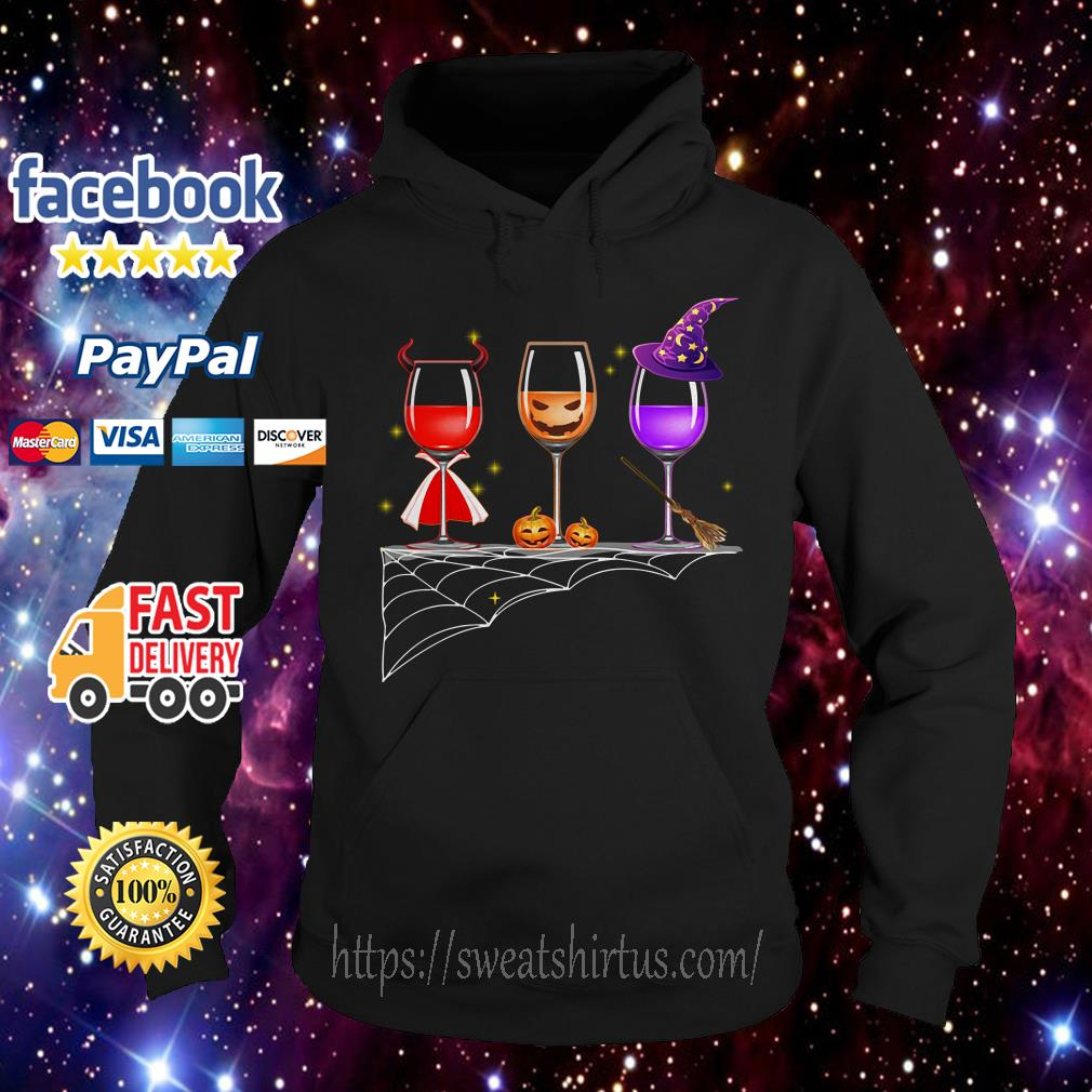 Halloween glass of wine Hoodie