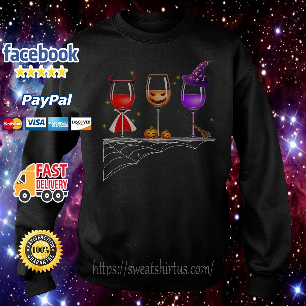 Halloween glass of wine Sweater