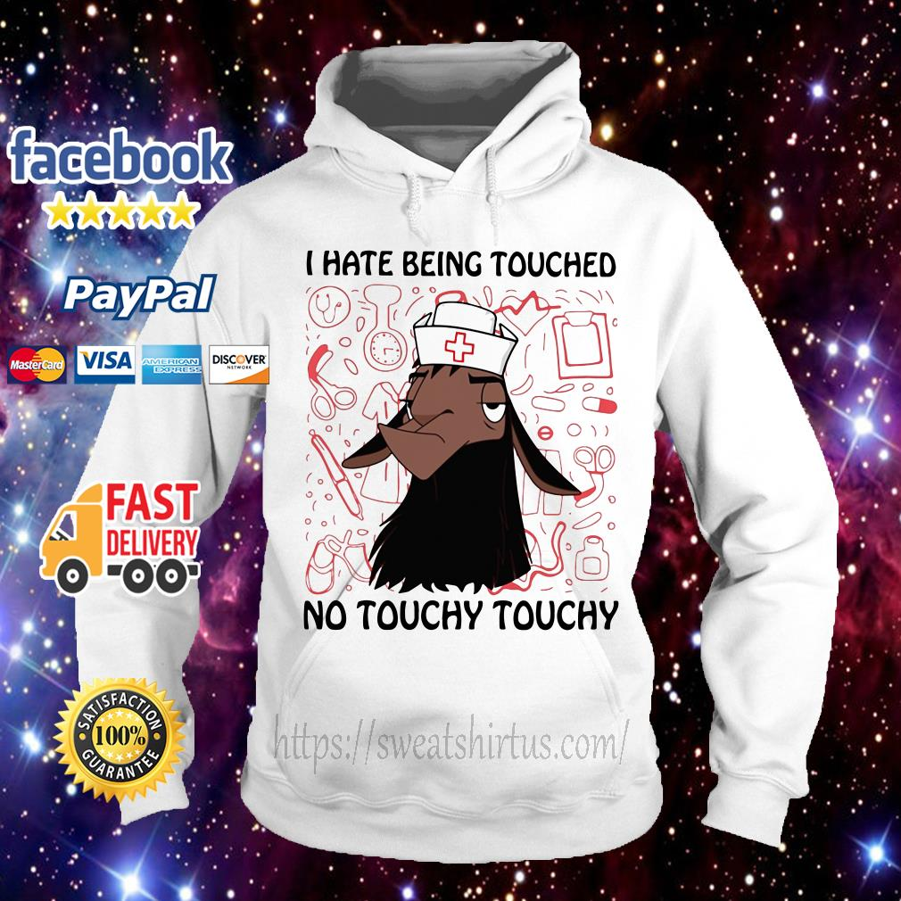 Kuzco Llama nurse I hate being touched no touchy Hoodie